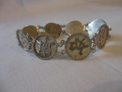 Gorgeous Antique Wai Kee Chinese Export Silver Wai Sterling Silver Link Bracelet
