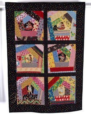 Handmade Quilted Applique Wall Hanging Quilt Little Girl Child