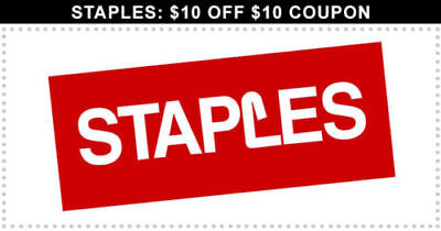 ➡️ 5X ➡️ FIVE ➡️ Staples COUPON 10 off 10 In Store ➡️ ALWAYS HAVE 25 75 30 60 50