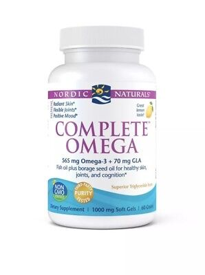 nordic naturals complete omega 565 Mg Omega-3 +70 Mg GLA ( PACK Of 4)