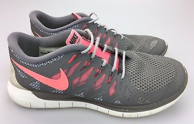 NIKE FREE 5.0 Pink 642199 603 Lace Up Athletic Running schuhe