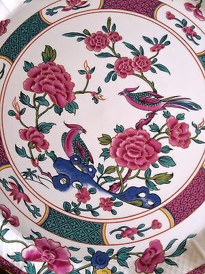 Limoges France Cake Plate Porcelain Spatula Peonies feng-huang Chinoiserie