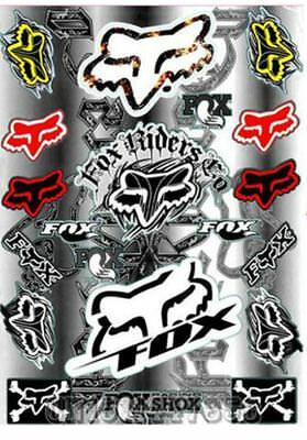 ** Stickers autocollants - Fox Racing - Moto cross - Bike **