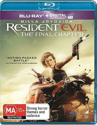 The Resident Evil - Final Chapter Blu-Ray : NEW