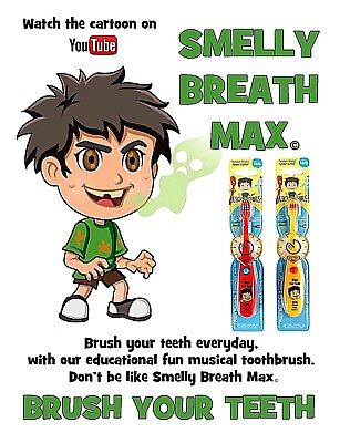 Kids Toothbrush - Smelly Breath Max - Comic Music Education