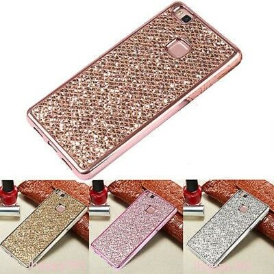For Huawei P8 P9 P10 Lite P20 Lite Phone Case Bling Glitter TPU Protector Cover