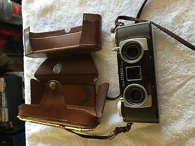 Vintage Eastman Kodak Stereo Camera 3 Dimensional with Leather Case # 1