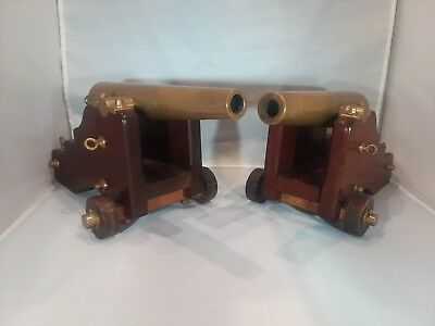 nice set of antique yachting signal salute cannon Strong & Brown Winchester?