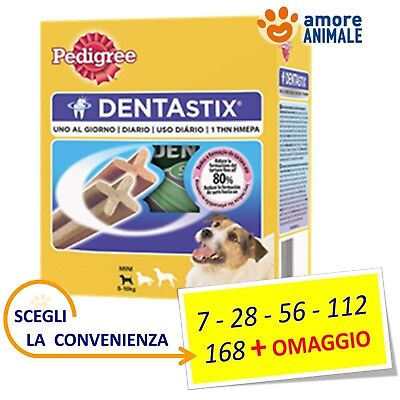 Pedigree Dentastix Small (tg. piccola) - Stick 7 / 28 / 56 / 112 / 168 + OMAGGIO