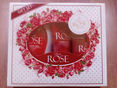 Natural and Pure Rose 3 piece Gift Set