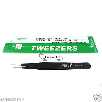 Professional Straight Pointed Stainless Steel Beading Tweezers 121 mm (WW-1)