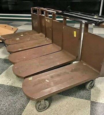 Industrial L-Carts - Heavy Duty Commercial Stock Carts -Grocery Stock Cart 20x48