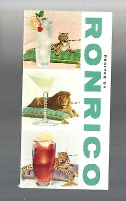 1958 Collectible HTF Recipes by RONRICO Rum Cocktail Recipe Booklet Pamphlet