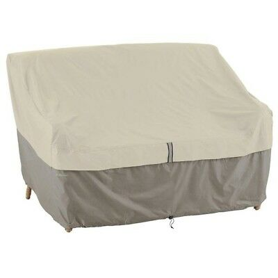 Classic Accessories Belltown Outdoor Patio Sofa/Loveseat Cover, Grey, Small