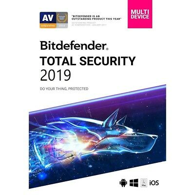 Bitdefender Total Security 2019 Antivirus 6 Months / 5 Devices Activation Key