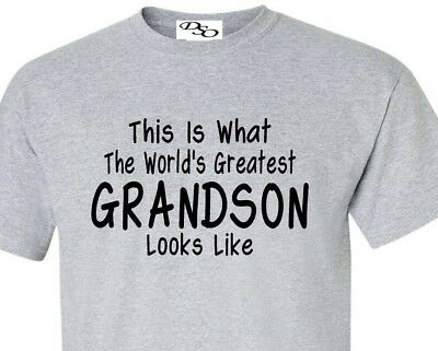b6d55177 Worlds Greatest Grandson T Shirt Fathers Day Gift - 16 Colors Size SM - 6X