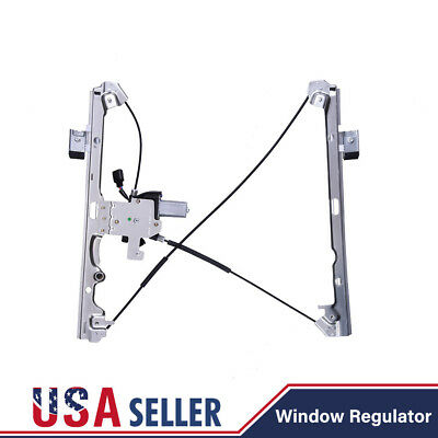 Power Window Regulator For 07-14 Chevrolet GMC Front Left Driver Side with Motor