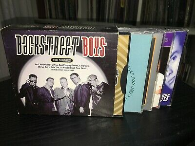 "Backstreet Boys Rare Box 5 Cds "" The Singles "" Fuori Catalogo."