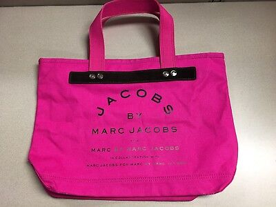 a59fa36ca2d Marc By Marc Jacobs Large Hot Pink Black Canvas Tote Over Night Bag Purse  EUC