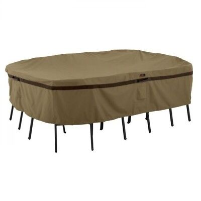 Classic Accessories Hickory HD Rectangular/Oval Patio Table & Chairs Cover-XL