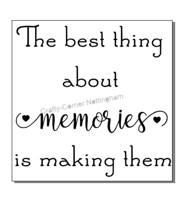 The best thing about memories is making them vinyl decal sticker Ikea box frame