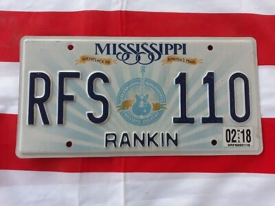 plaque d'immatriculation Mississippi Us RFS 110 Usa license plate