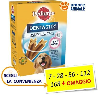 Pedigree Dentastix Large (tg. grande) - Stick 7 / 28 / 56 / 112 / 168 + OMAGGIO