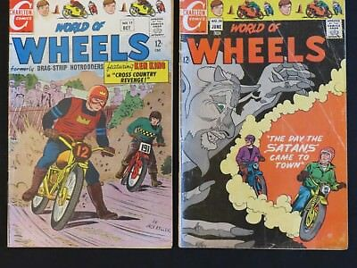 Charlton Comics World of Wheels #17 26 1967-1969 Lot of 2
