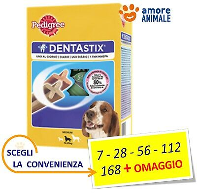 Pedigree Dentastix Medium (tg. media) - Stick 7 / 28 / 56 / 112 / 168 + OMAGGIO
