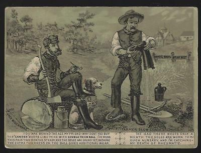 Victorian Trade Advertising Folder for Candee Rubber Boots with Farmers