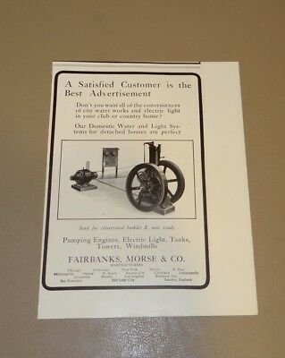 "Antique Print Ad 1904 Fairbanks Morse & Co Pumping Engines Tanks Towers 6"" x 5"""