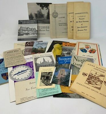 Vintage Travel Brochures Lot/25 Niagara Falls Yellowstone The Gray Line 181259