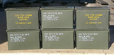 (1) US Military SURPLUS  M2A1 * M2A2 Ammo Can Tool Box .50 Caliber  storage