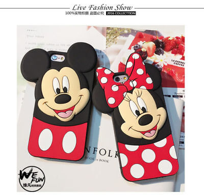 Cute Disney Mickey Minnie Mouse Polka Dot Silicone Case Cover For Mobile Phones