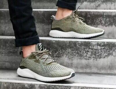 566dd3e7e3eef BW1203  MENSS ADIDAS Alphabounce EM M Running Sneaker - Trace Olive ...