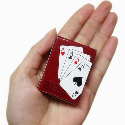 Small Mini Miniature Travel Pocket Playing Poker Cards Deck Tiny Little Coated
