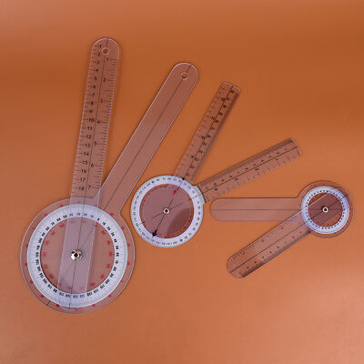 3pcs 6/8/12inch 360 degree protractor angle medical ruler spinal goniometer PT