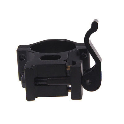 """Top 1"""" 25.4/ 30 mm Ring 20mm Weaver Picatinny Rail QD Quick Release Scope^ Mount"""