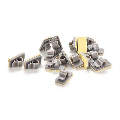 15X Plastic Wire Cable Cord Line Organizer Clips Ties Fixer Fastener Holder PT