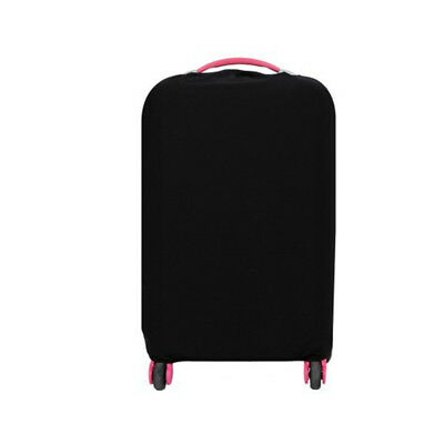 Travel Trolley Case Elastic Solid Luggage Suitcase Protector Cover Black S #ur1