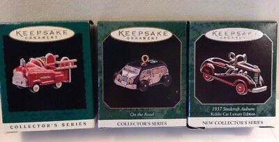 1996 1997 1998 Hallmark Keepsake Ornament Miniature Car Classics Lot of 3