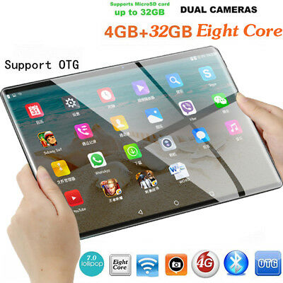 10.1'' Tablet PC Android 7.0 Eight Core 4+32GB HD Wifi 2 SIM 4G Phablet FY