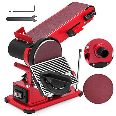 375W Belt Disc Sander Bench Mount Grinder Polisher With Dust Extraction Port