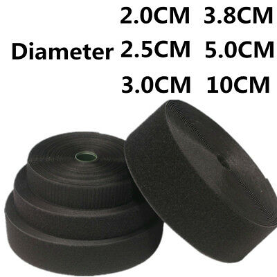 20MM-50MM Black & White Self Adhesive Tape Hook and Loop Sticky Backed Fastener