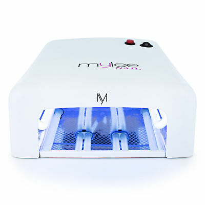 MYLEE 36W UV Lamp Gel Polish Curing Nail Art Dryer Manicure with Timer & 4 Bulbs