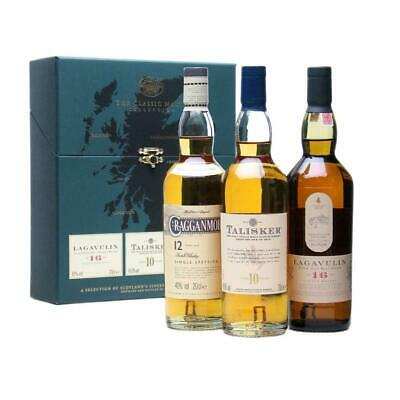 Classic Malt Strong Collection Malt Lagavulin Cragganmore Talisker Whisky 3x200