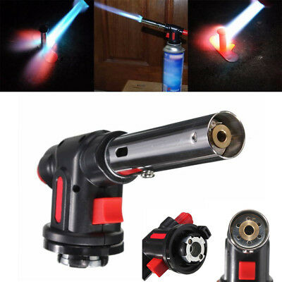 Flamethrower Burner Butane Gas Blow Torch Auto Ignition Camping BBQ Spray QY