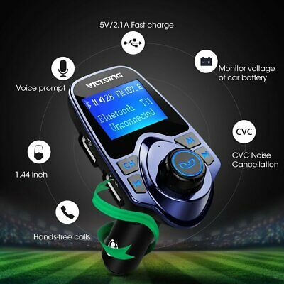 VicTsing LCD Car Bluetooth Kit MP3 USB Charger Wireless FM Transmitter Handsfree