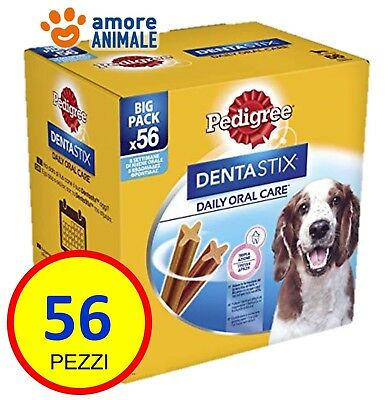 Pedigree Dentastix Medium 56 pezzi per cani di TAGLIA MEDIA - Igiene orale cane