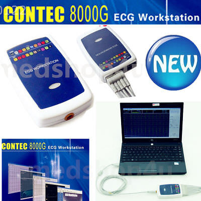 CONTEC8000G Workstation 12 lead Resting ECG/EKG System Machine Recorder+Software